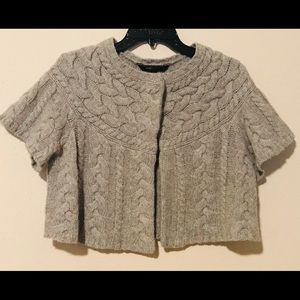 BCBGMaxAzria grey sweater cardigan shrug